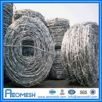 2015 Hot Sale 14 Gauge Gi Wire Barbed Wire With Factory Price