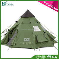 Outdoor 10 Person Folding Camping Indian Pagoda Tipi Tent