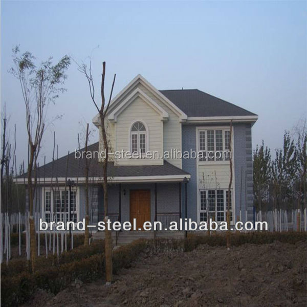 low cost prefab prefabricated steel frame kit homes/houses and villas