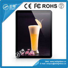 New idea outdoor advertising international environmental ABS frame wall hanging light box led acrylic box