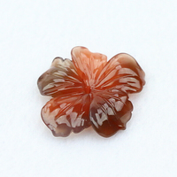 Hand engraving manual handcraft natural agate stone flower