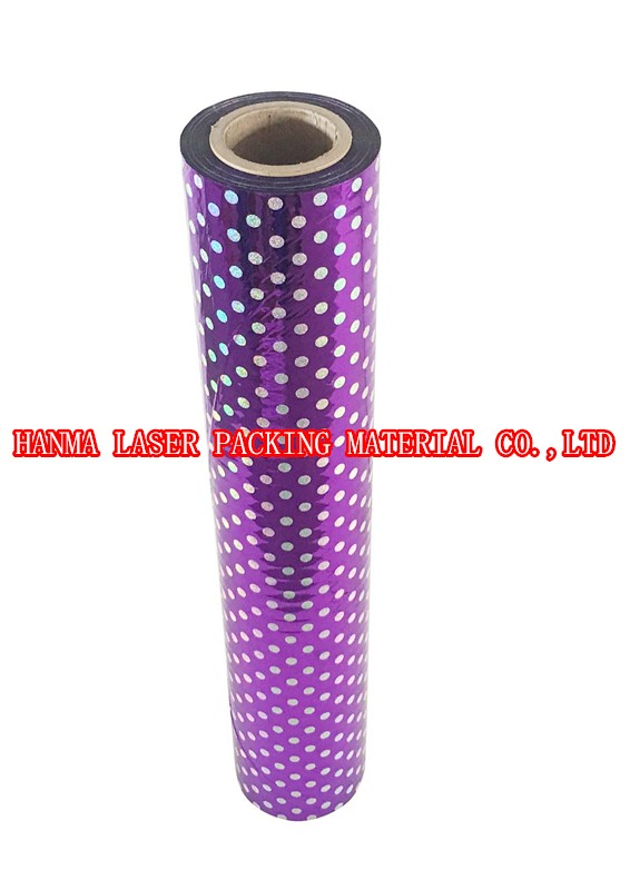 Bohemia dot holographic coated film for lamination or packing on whole sale