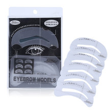 Beauty Tools Plastic DIY Eye Brow Shaping Stencils Eyebrow Template Stencil