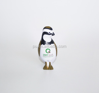 Customized OEM promotional pu toys,pu animal toy ,penguin