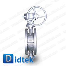 Didtek Stainless Steel Metal Seat Flanged Connection Triple eccentric/Triple Offset Butterfly Valve