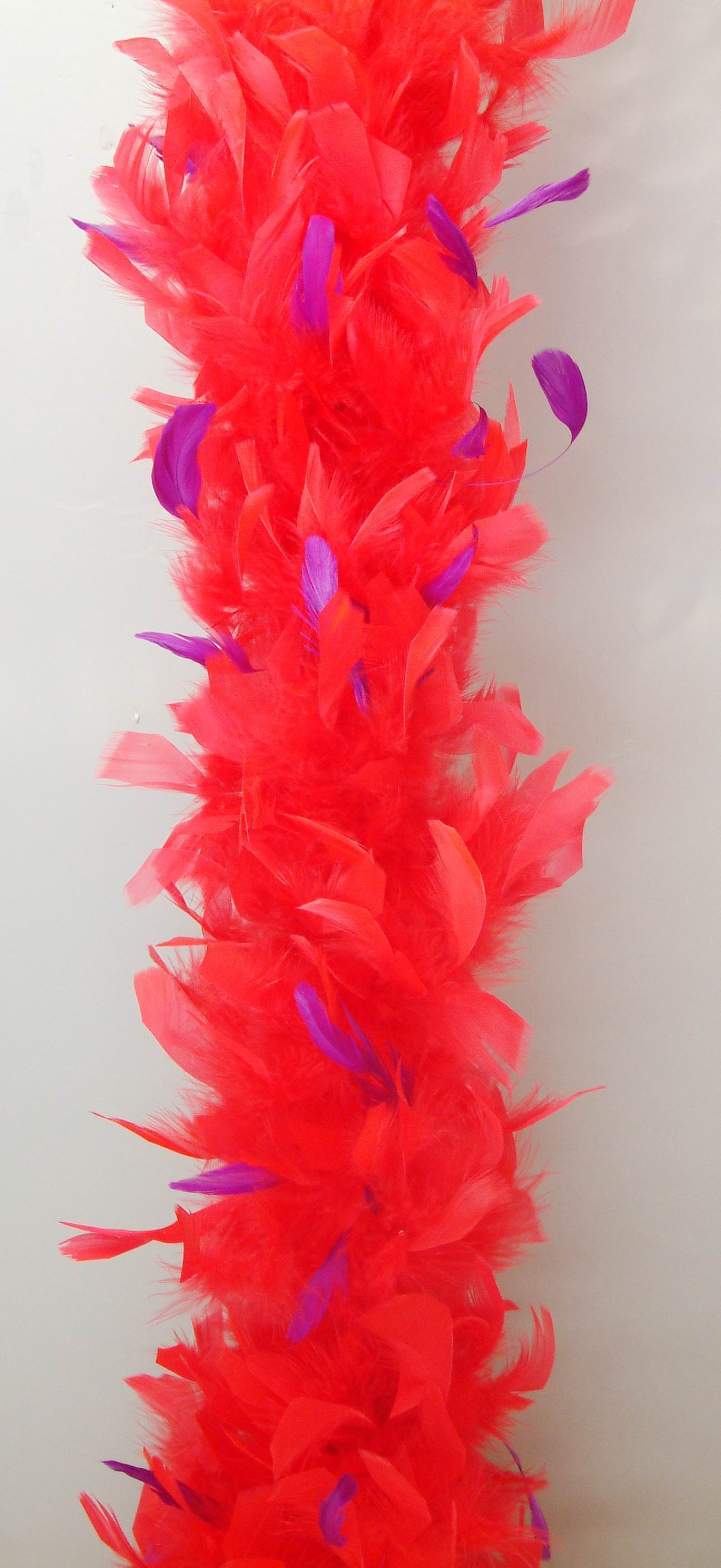 2018 Fashion Turkey Feather Boa With Flowers