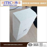 China manufacturer Zibo Hitech sintered mullite insulating brick for got surface linings