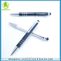 Hot sell 2015 promotional new products metal touchpen with logo engraved