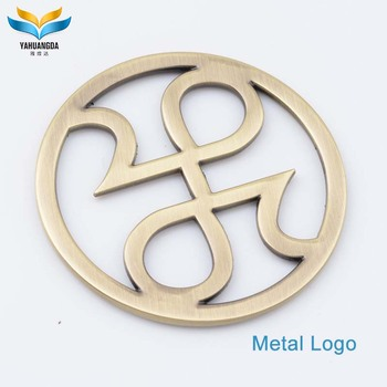 custom metal brand logo label wholesale for handbag in china