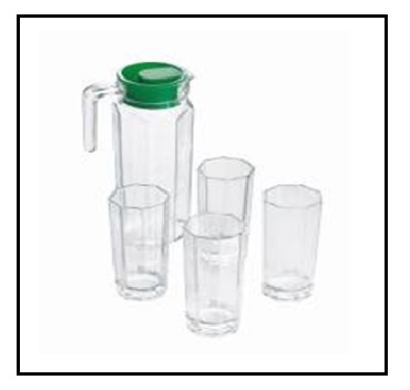 New Design 1.2L Pitcher with Glass Set