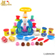 Ice cream machine color mud set with 6 color dough diy play game for kids