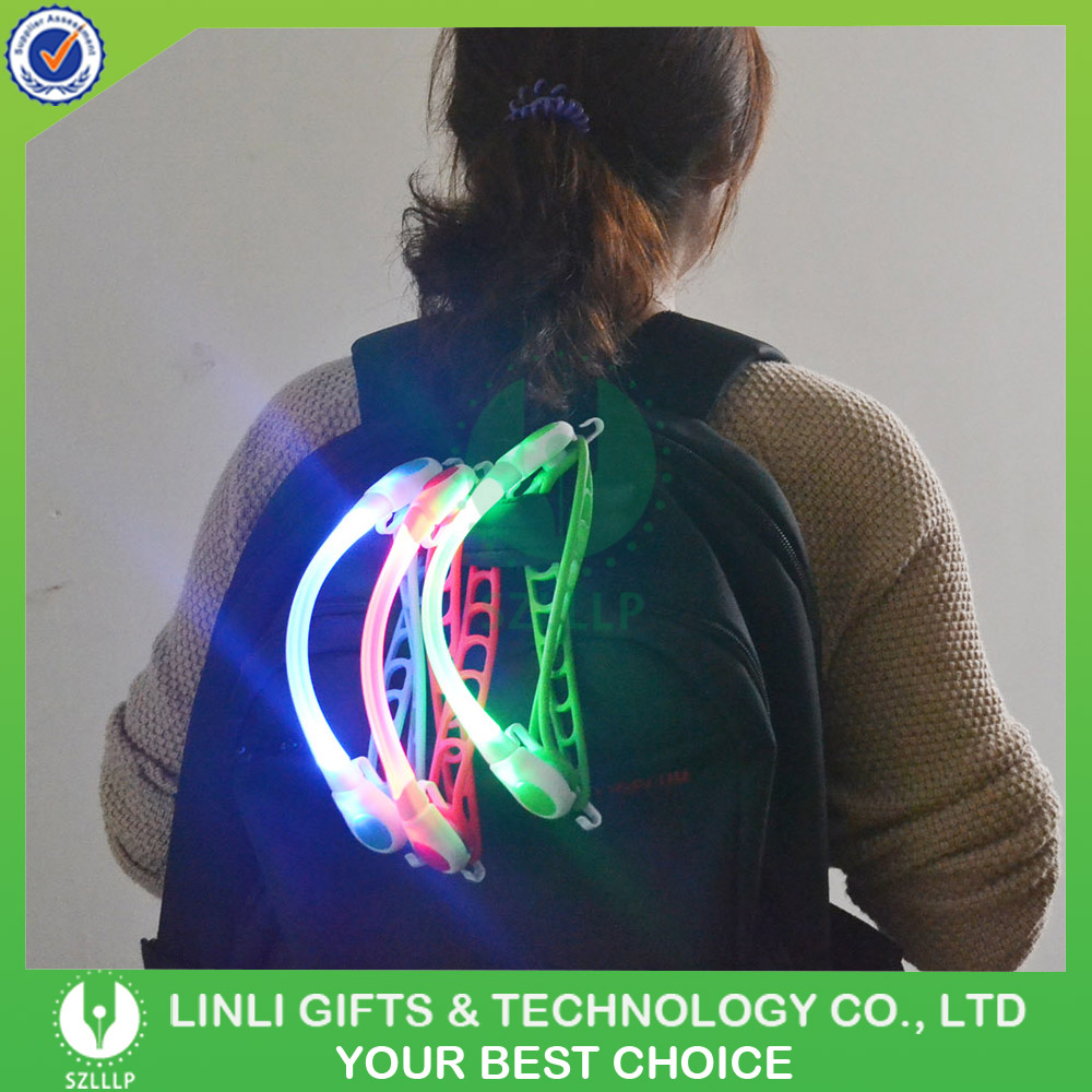 Custom Logo Printed Advertising Glowing Led Decorative Bike Handlebar Light For Sports ;Led Outdoor Sports Lighting
