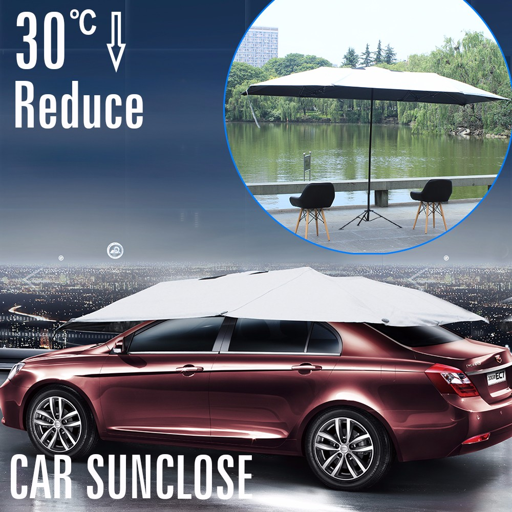 SUNCLOSE 5th wheel trailer cover htich cover wooden balcony umbrella ice snow windscreen cover