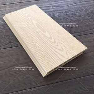 White External WPC Wall Panel with wood texture wood cladding for outside wall cover
