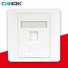 RJ45 faceplate with rj45 keystone jack connector krone wall plate