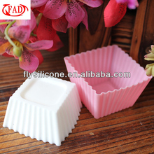 Special Mini Square Shaped Silicone Cake Mould Cookie Cups, Pink