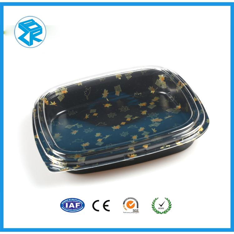 many kinds of cheap rectangle blister palstic sushi trays