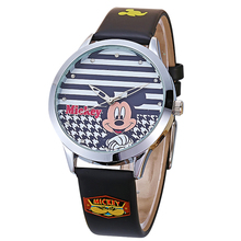 Cartoon Lady Girls Wrist Watches Leather Strap Loverly Children Kids Watches