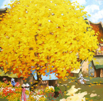 Oil on canvas by Artist Duong Ngoc Son