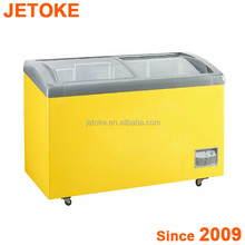 JETOKE Sliding Top Glass door Freezer Ice Cream