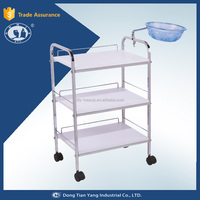 DY-2703 wood Trolley,salon equipment,plastic wheel
