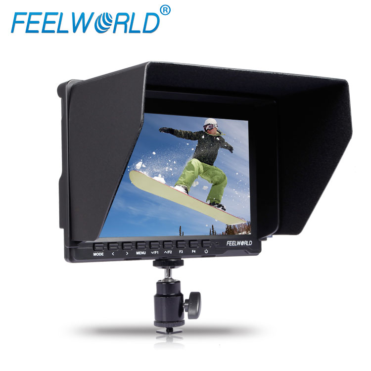 Slim Design Ultra HD IPS 1280x800 on-camera LCD HDMI 7'' field mini monitor with F970 Plate