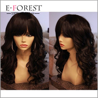 Fast Shipping Virgin Brazilian Human Hair Full Lace Wig Glueless Silk Base Js And Company Wig With Bangs
