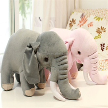 vivid elephant for kids,comfortable plush elephant toy skin