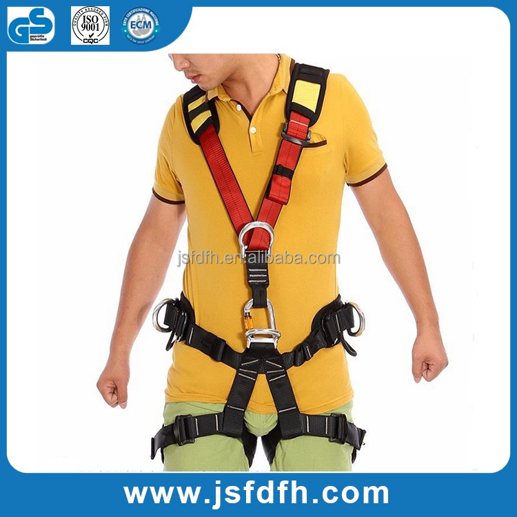 Professional Rock Climbing High altitude Full Body Safety Belt Harnesses Anti Fall Protective Gear