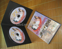 black single and double 7mm cd dvd plastic boxes&case