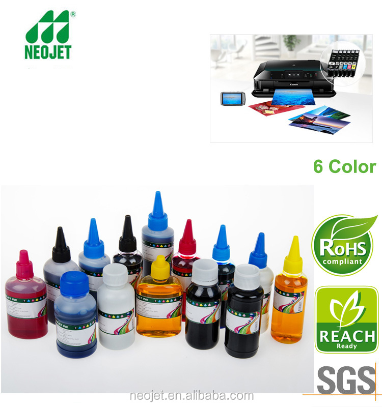 compatible black pigment ink and dye color ink for 570 571 refill ink cartridge for canon mg 5750 6380 ciss photo printer