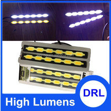 Xenon White/Amber Yellow Universal LED Daytime Running Fog Light LED DRL with Turning