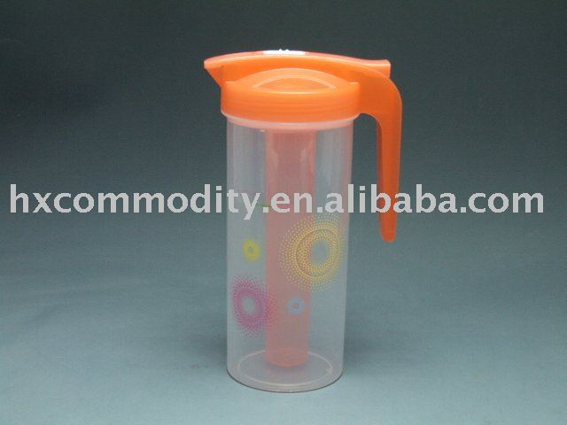 new design plastic jug with ice tube (1.2L)