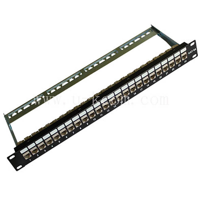 "wall mount krone 110-idc 19"" 1u blank cat6a ftp 24 port keystone patch panel in rack"