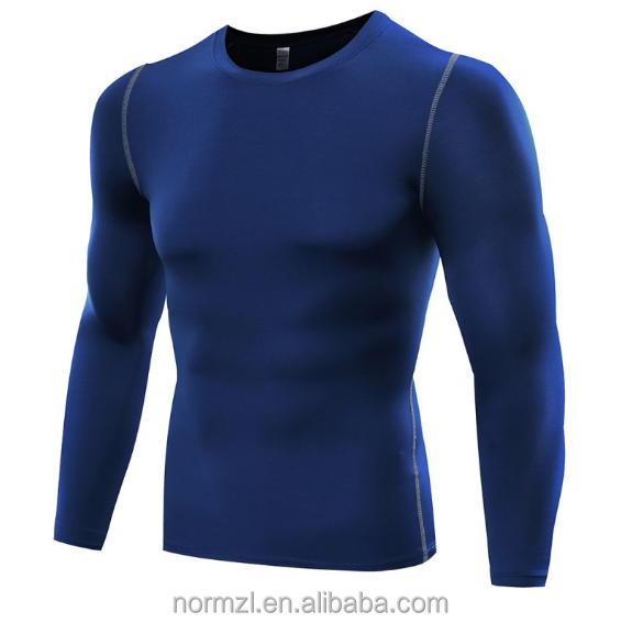 Muscle Men Compression Shirts Long Sleeves Top Fitness Base Layer Weight Lifting