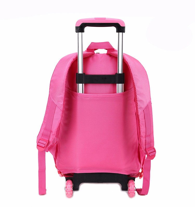Wholesale high quality trolley school bags, trolley school backpack with wheels for teenagers , factory price sale