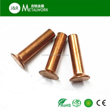 High quality M3.5 M4 M5 M6 flat head red copper semi hollow rivet in stock