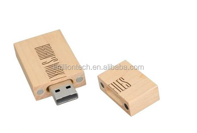 100% real capacity wooden Custom Flash Drives USB Memory 8gb 16gb, high quality chips usb stick