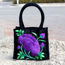 High Quality Womens Fashion Large Capacity Bags Embroidery Satchel Tote Handbags