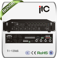 ITC New Product 6 Zones Mixer Amplifier with MP3 Player for pa paging system