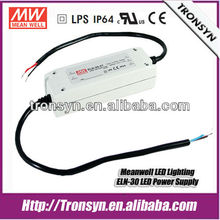 Meanwell 15V 30w dimmable led driver ELN-30-15 With Dimming Function(1.1-10VDC/PWM)