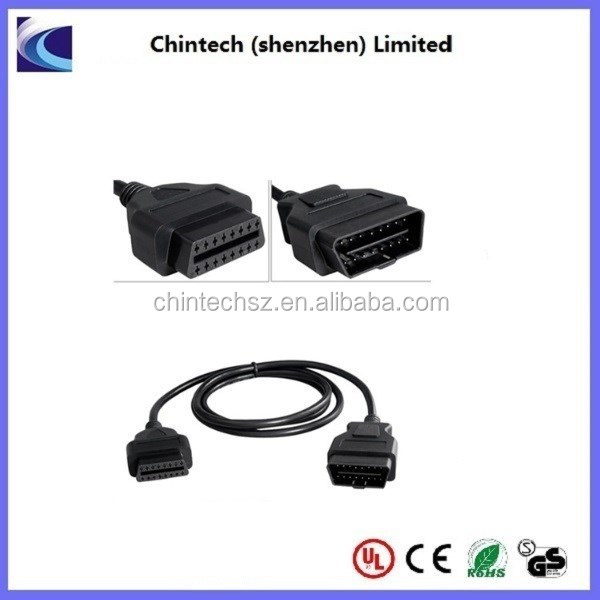 High Quality OBD OBD2 Male to Female 16pin connector Extension Cable