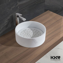 Bathroom sanitary ware sink , table top solid surface washbasin , bathroom basin