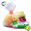 Food Packaging Plastic Produce Roll Bags for Supermarket