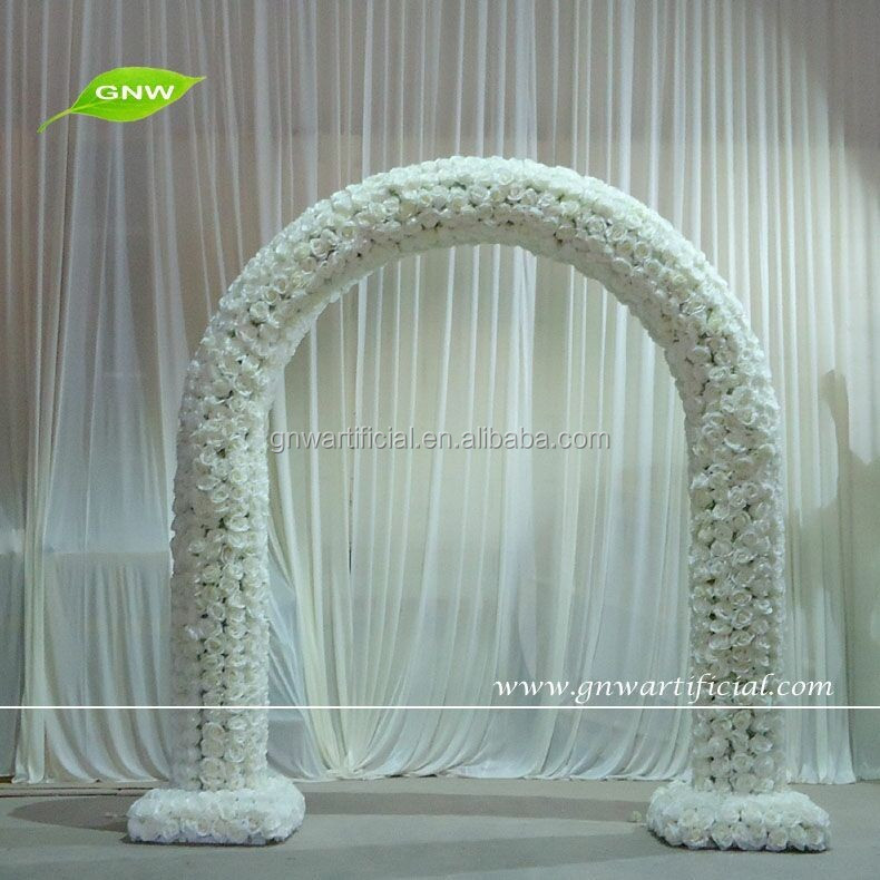 GNW FLA1603003 newly design Artificial Wedding Flower Arch All Kinds of Decorative Flower
