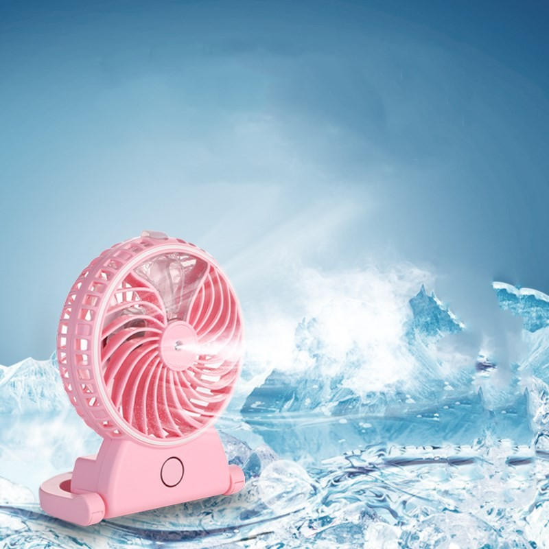 Portable built-in battery Rechargeable Desktop handheld humidifier mist fan