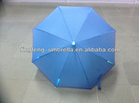NEW light blue straight umbrella led umbrella with torch umbrella with lighted handle
