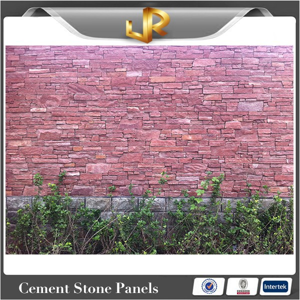Natural sandstone red wall tile corner