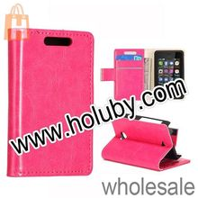 For Nokia 501 Case High Quality Mini Crystal Grain Pattern Flip Stand Magnetic Leather Case for NOKIA Asha 501 With Card Slot