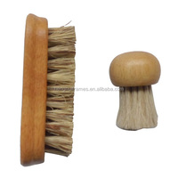 natural hair wood handle kitchen vegetable and fruit cleaning brush